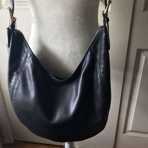 Vintage Leather Coach Crossbody Bag